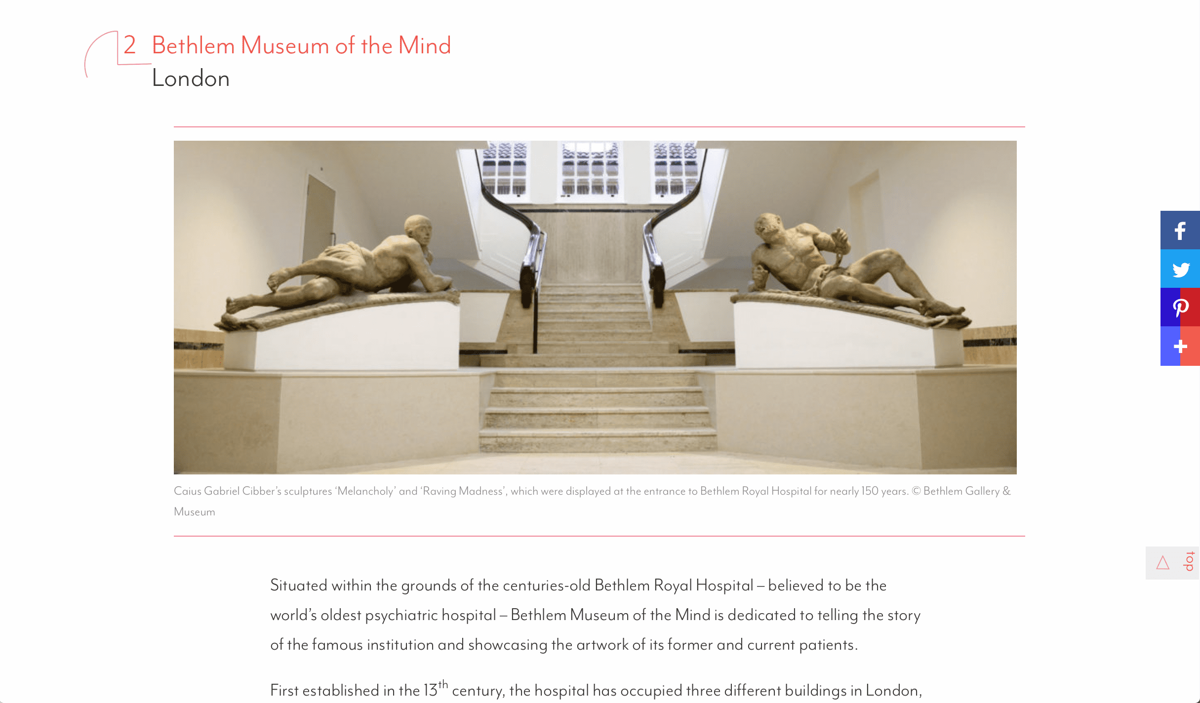 best places to visit - Bethlem Museum of the Mind