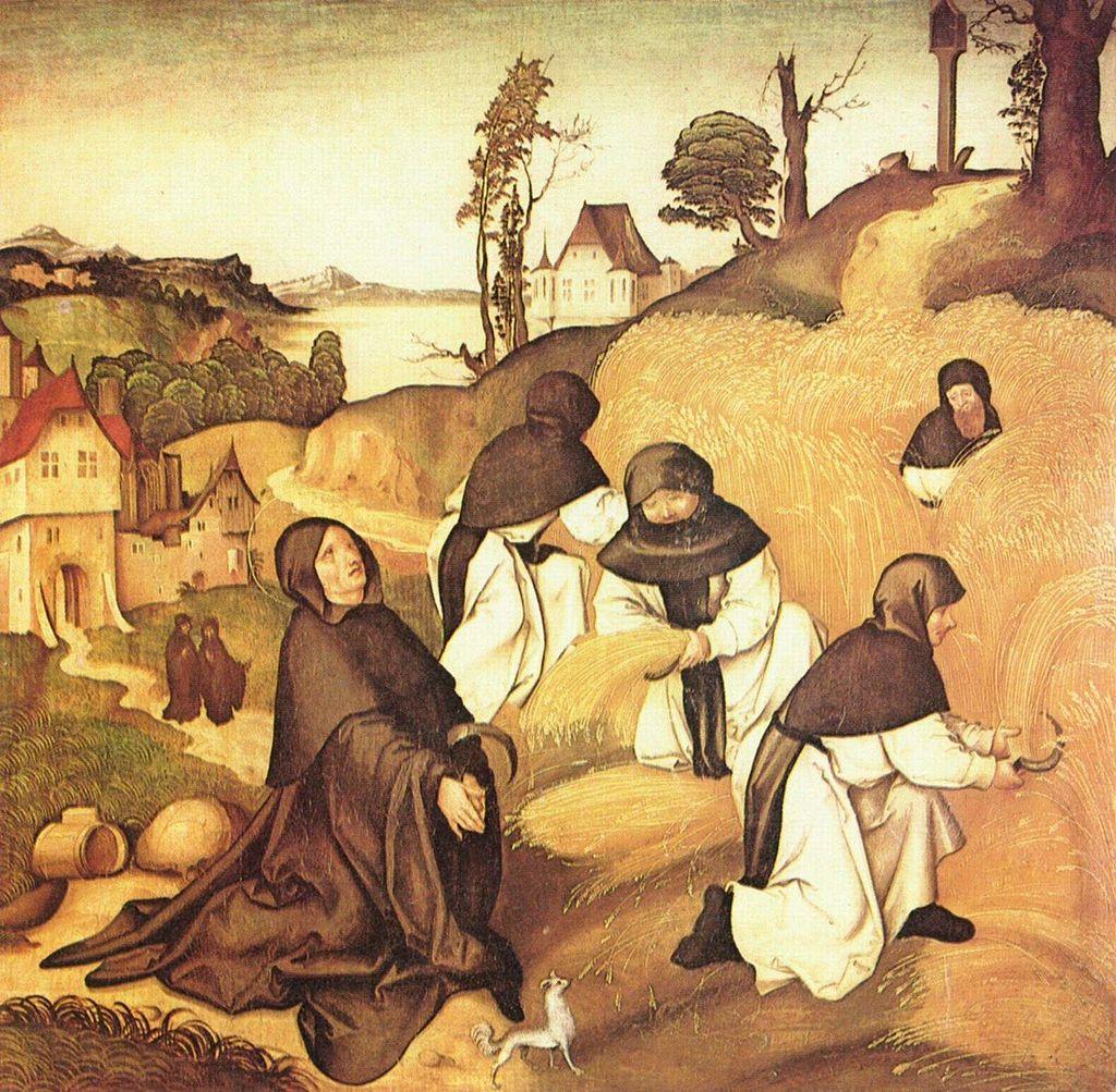 An illustration of Cistercians at work by Jörg Breu the Elder, 1500