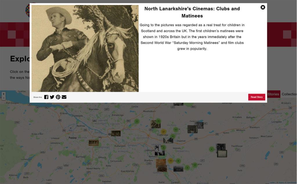 Screenshot of CultureNL website - Interactive map information modal