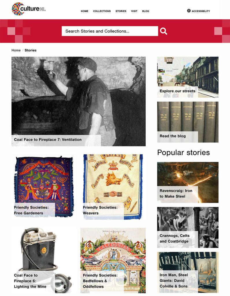 Screenshot of CultureNL website - Stories page
